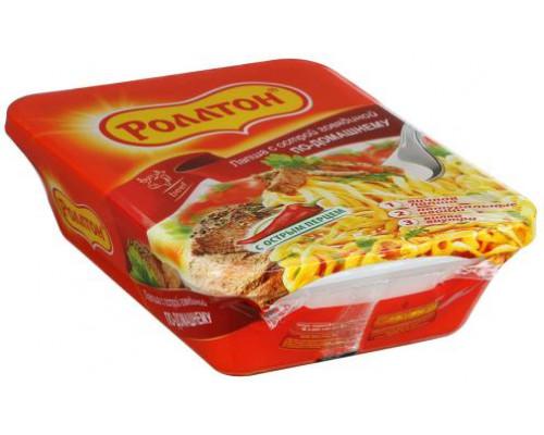Лапша ТМ Роллтон по-домашнему с острой говядиной, 90 г