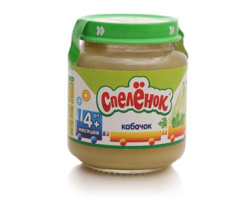 Пюре из кабачков для питания детей с 4-х месяцев ТМ Спелёнок