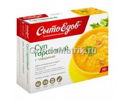 Суп ТМ Сытоедов Вкусный суп, гороховый с говядиной, замороженный, 300 г