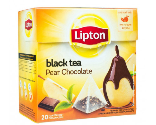 Черный чай ТМ Lipton (Липтон) Pear Chocolate, 20 шт.