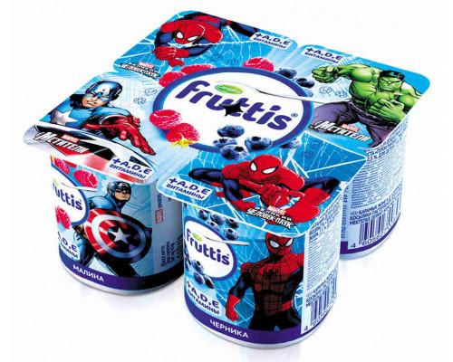 Продукт йогуртный ТМ Fruttis Marvel, пастеризованный, малина/черника, 110 г