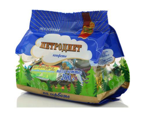 Конфеты желейные Петродиет на сорбите ТМ Здоровые сладости