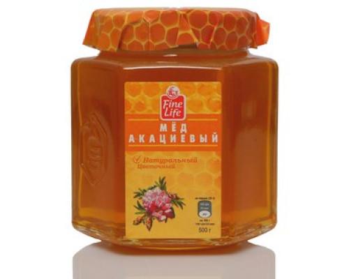 Мед натуральный цветочный акациевый ТМ Fine Life (Файн Лайф)