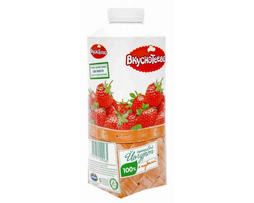 Йогурт питьевой Вкуснотеево клубника 1,5% 750г