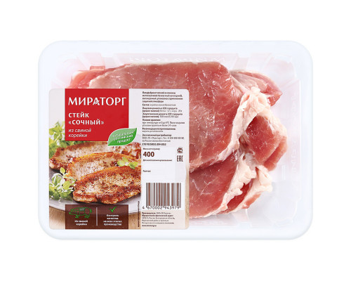 Стейк Сочный ТМ Мираторг, из свиной корейки, 400 г
