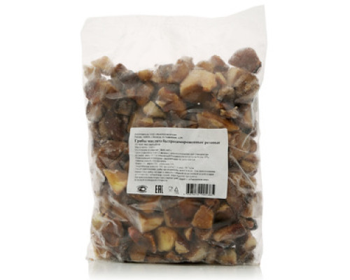 Грибы маслята резаные свежезамороженные ТМ Вологодская ягода