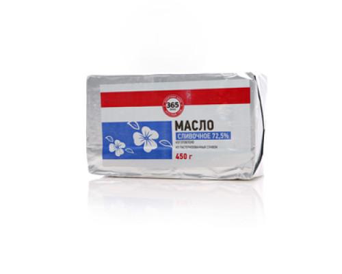 Масло сливочное сладко-сливочное несоленое: Крестьянское 72,5% ТМ 365 дней