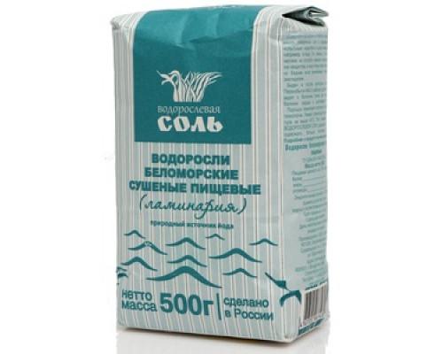 Соль водорослевая Водоросли беломорские сушеные пищевые (ламинария)