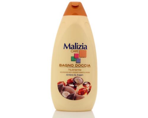 Гель для душа Care янтарь и арган TM Malizia (Мализиа)