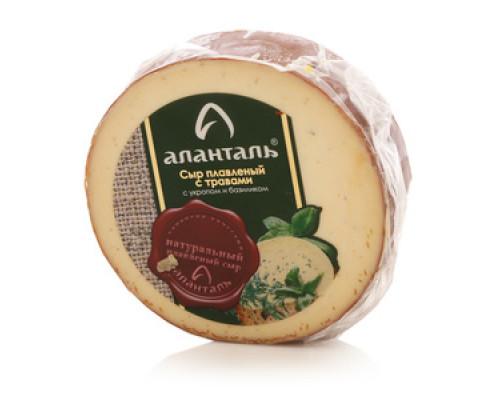 Сыр плавленый с травами с укропом и базиликом 40% ТМ Аланталь