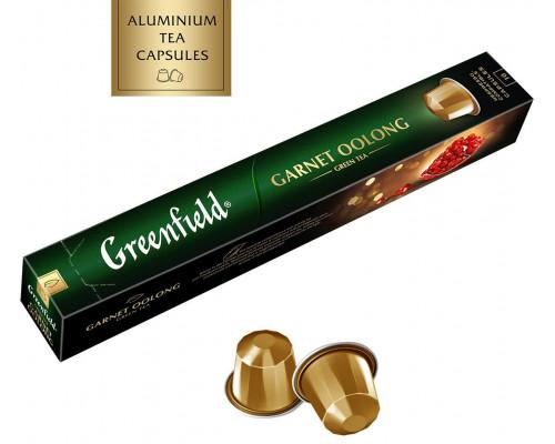 Чай ТМ Greenfield (Гринфилд) Garnet Oolong, зеленый, с ароматом граната и лепестками василька, 10 шт. по 2,5 г