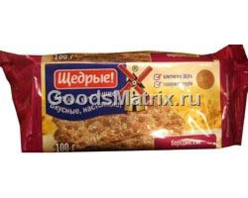 Хлебцы ТМ Щедрые, Бородинские, 100 г