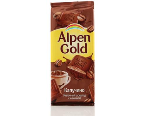 Шоколад молочный с начинкой капучино ТМ Alpen Gold (Альпен гольд)