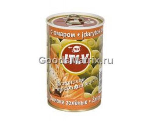 Оливки зеленые ITLV (ИТЛВ) с омаром 314 мл