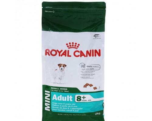 Корм сухой ТМ Royal Canin Mini Adult 8+, для собак весом до 10 кг старше 8 лет, 2 кг