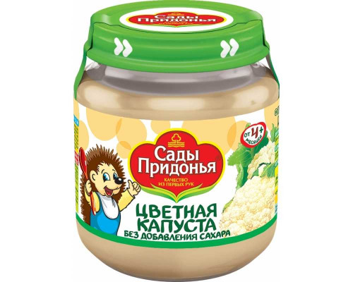 Пюре ТМ Сады Придонья Цветная капуста, с 4 мес., 120 г