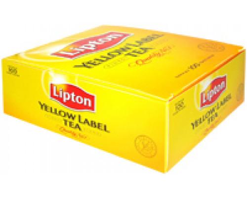 Чай зеленый ТМ Lipton (Липтон), yellow label tea, 100 пакетиков по 2 г