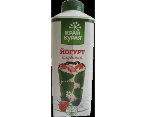 Йогурт ТМ Край Курая, клубника, 1,5%, 750 г