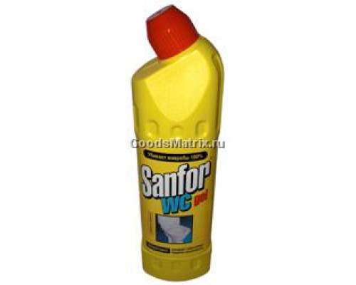Гель для чистки унитаза Sanfor 750 г
