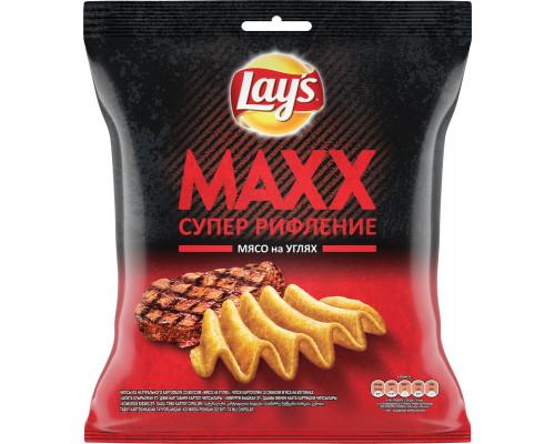 Чипсы ТМ Lays Maxx, со вкусом мяса на углях, 75 г