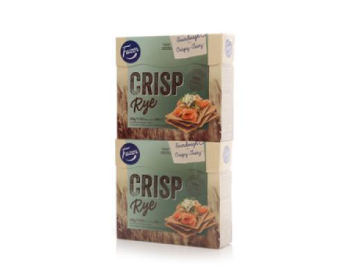 Сухарики ржаные Crisp Rye 2*200г ТМ Fazer (Фацер)