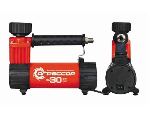 Компрессор автомобильный Агрессор Yagr-30 металлический 12V 140W производительность 30л/мин сумка 1/8