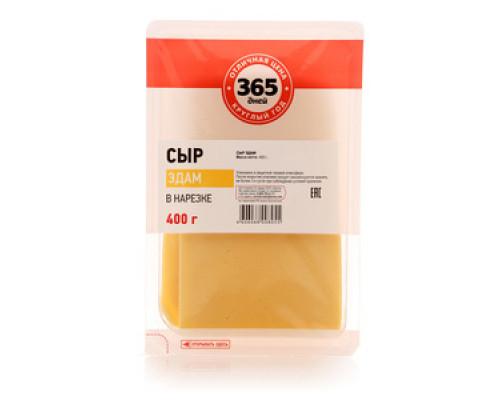 Сыр Эдам в нарезке 40% ТМ 365 дней, 400 г