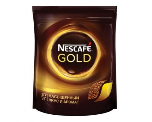Кофе Nescafe Gold растворимый 75г пак