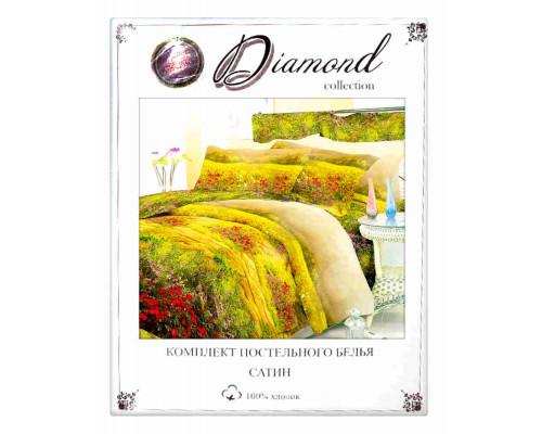 'КПБ евро ''Diamond''(сатин)2 нав. 50*70.2 нав. 70*70'
