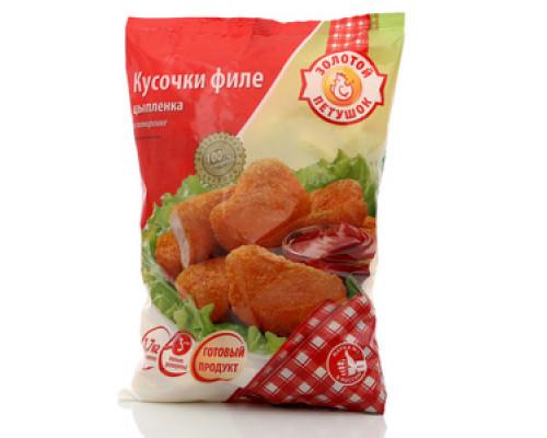 Кусочки филе цыпленка ТМ Золотой петушок
