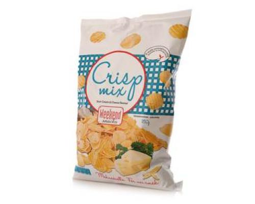 Снеки со вкусом сметаны и сыра ТМ Weekend snacks (Викэнд снэкс)