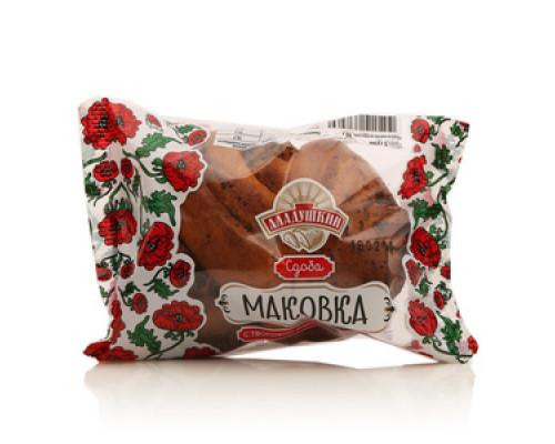 Сдоба Маковка с творожно-маковой начинкой ТМ Аладушкин