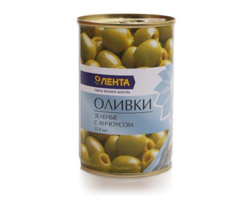 Оливки зеленые с анчоусом ТМ Лента