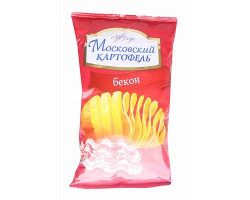 Чипсы ТМ Московский Картофель, хрустящие со вкусом бекона 70 г
