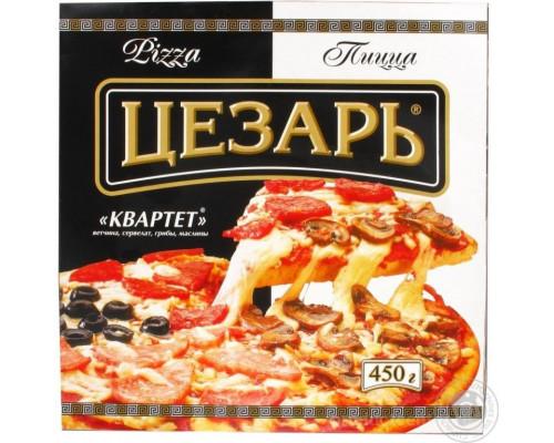 Пицца ТМ Цезарь Квартет, Морозко, 450 г