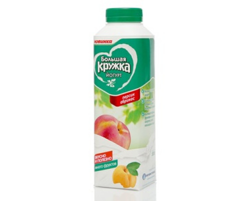 Йогурт с персиком и абрикосом 2,5% ТМ Большая Кружка