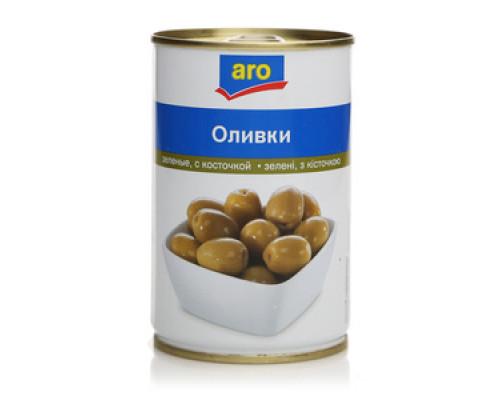 Оливки зеленые с косточкой TM Aro (Аро)