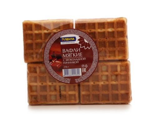 Вафли мягкие с шоколадной начинкой ТМ Лента