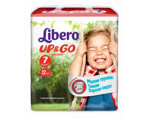 Подгузники-трусики Libero Up&&Go Extra large plus 16-26кг 12шт