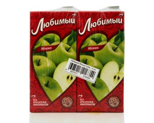 Нектар яблочный осветленный ТМ Любимый, 4*950мл