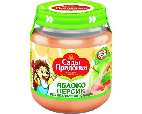 Пюре ТМ Сады Придонья, Яблоко-персик, с 5 мес., 120 г