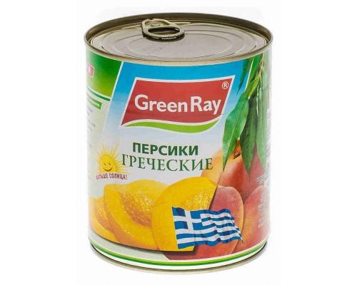 Персики Green Ray половинки 820г