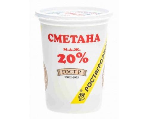 Сметана ТМ РостАгроЭкспорт, 20%, 320 г