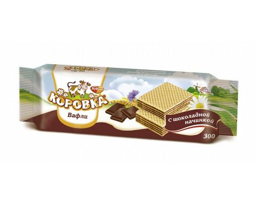 Вафли Коровка с шоколадной начинкой 300 г