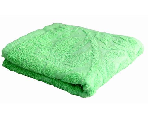 Полотенце махровое 30х70см Тубероза зеленое плотность 305гр артПД-2701-02551