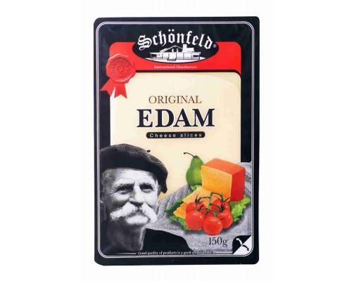 Сыр Schonfeld Эдам 45% 150г нарезка