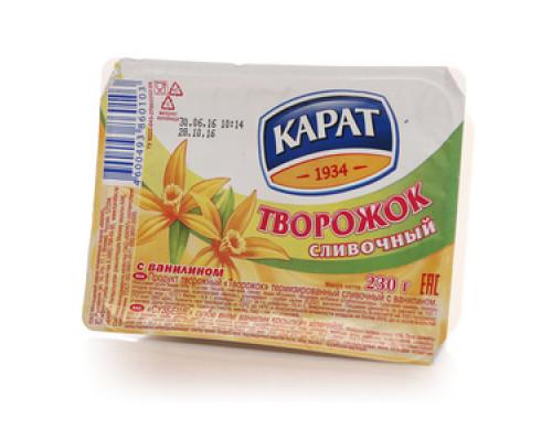 Творожок сливочный с ванилином ТМ Карат, 10%, 230 г