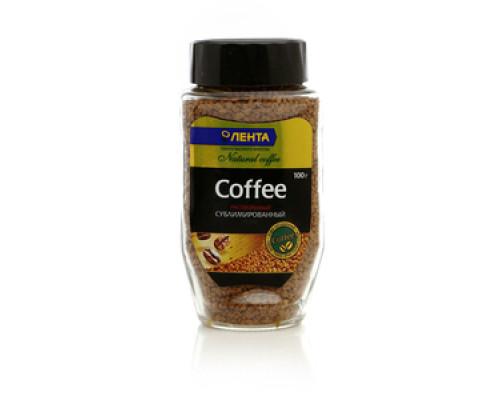 Кофе натуральный растворимый сублимированный ТМ Лента