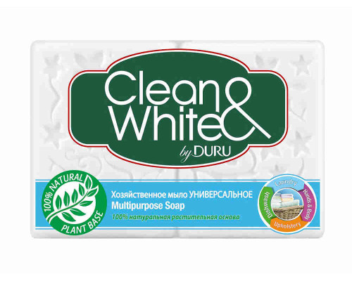 Мыло хозяйственное Duru Clean&White универсальное 4х125г