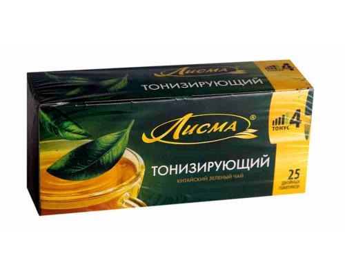 Чай зеленый ТМ Лисма, Тонизирующий 25 пакетиков